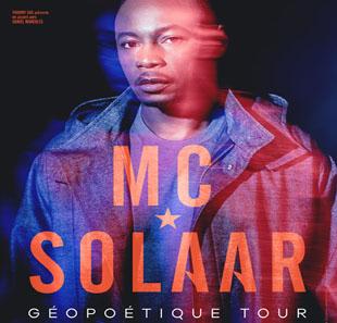Billet de concert MC Solaar Géopoétique Tour - différentes dates et villes à partir de 21€