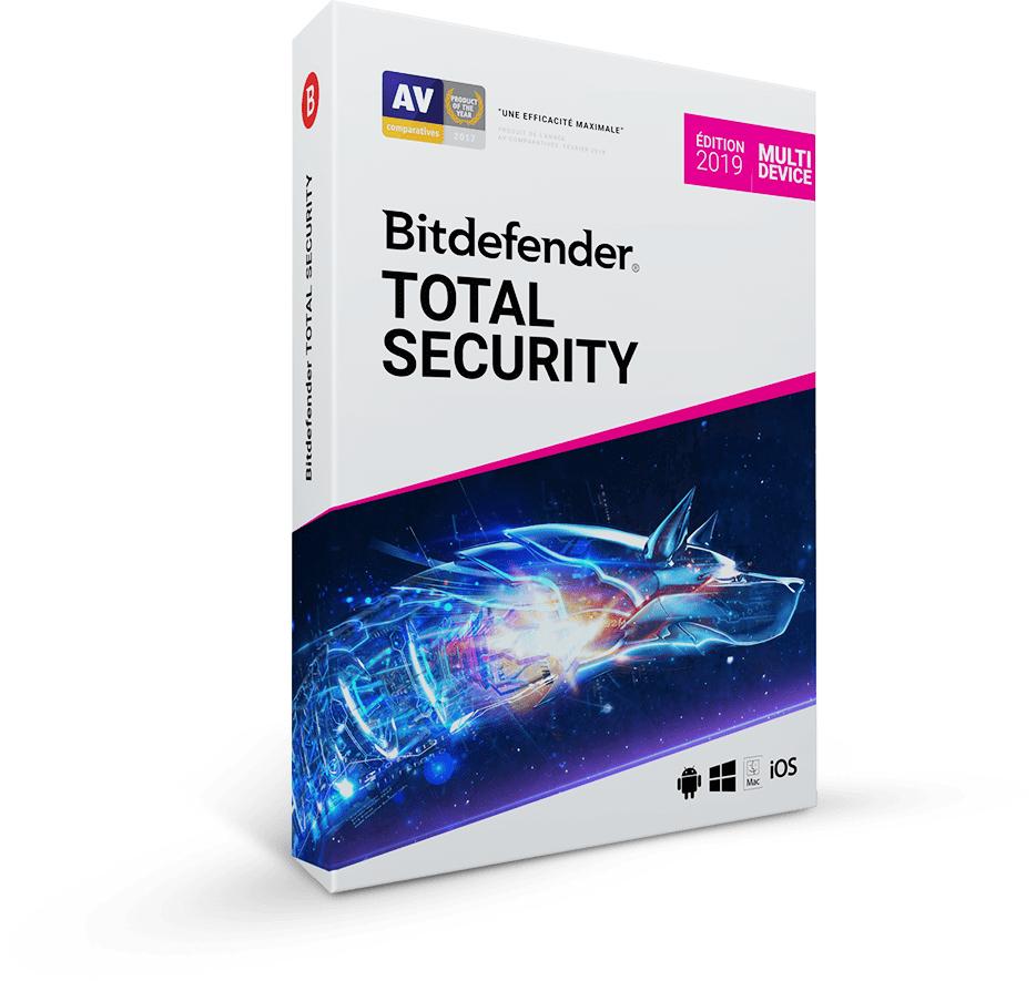 Suite Bitdefender Total Security 2019 - 1 ans / 5 postes