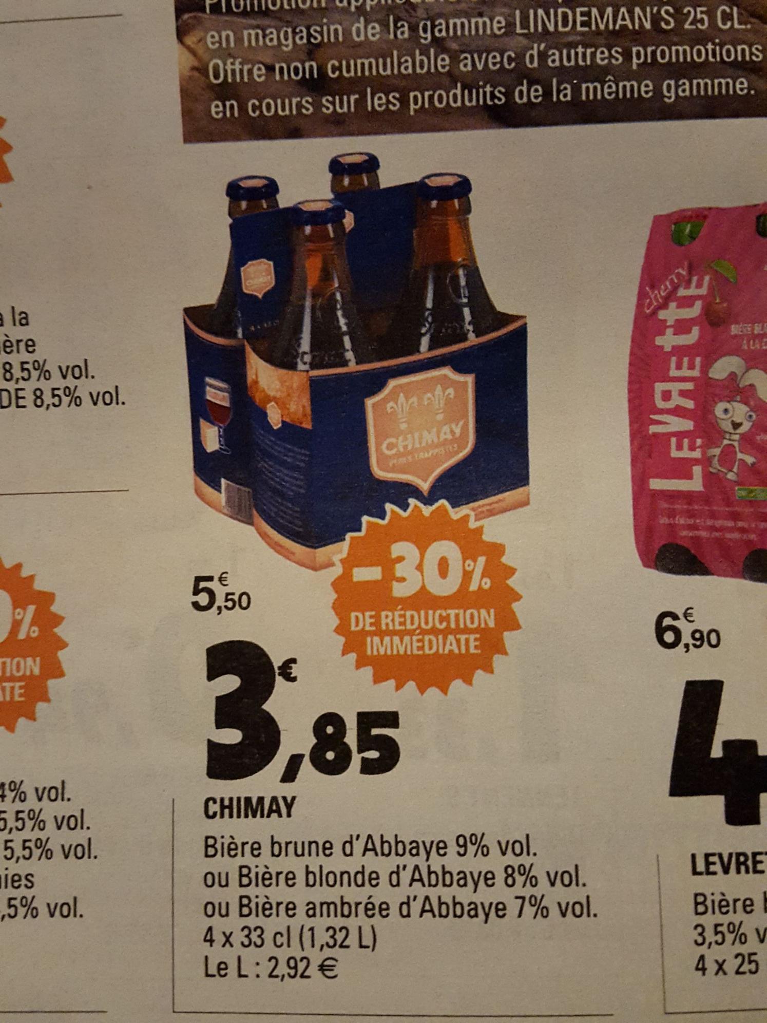 Un pack de 4 bières Chimay - 4 x 33cl