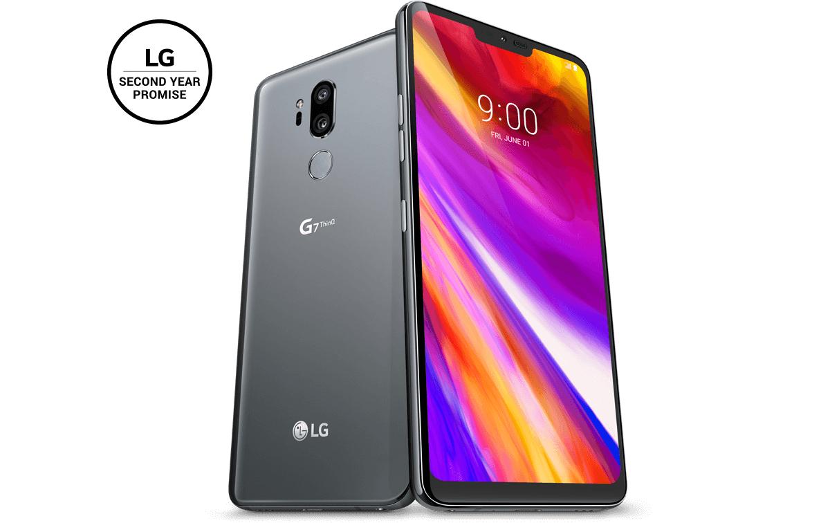 """Smartphone 6.1"""" LG G7 ThinQ - 64Go, Noir + 40€ en carte cadeau  (Frontaliers Luxembourg)"""