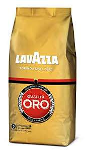 Lot de 4 sachets de café en grains Lavazza Oro