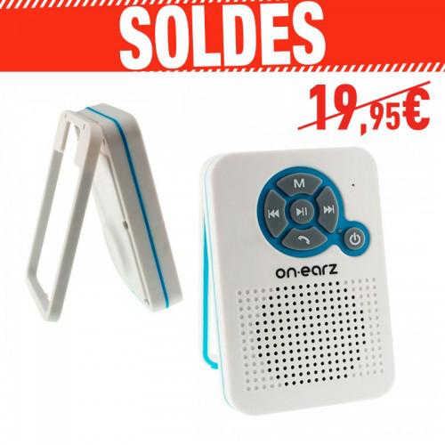 Enceinte Bluetooth On.Earz P105 Kit Mains libres Radio FM pour salle de bain