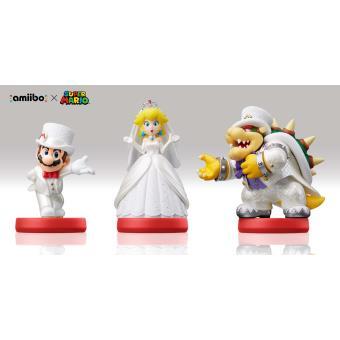 Pack Figurine Amiibo Mario + Peach + Bowser Tenue de mariage
