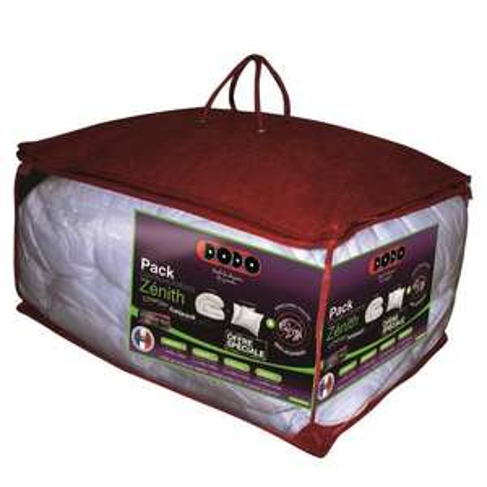 Pack Couette & Oreiller Anti-Acariens Dodo Zenith 400 gr/m² 220x240cm