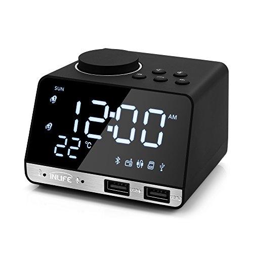 Radio-réveil InLife - 2 ports USB, port AUX (vendeur tiers)