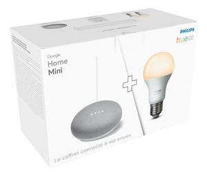 Kit de démarrage Philips Hue + Assistant Google home mini