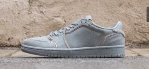 """Chaussures Nike wmn air jordan 1 low """"no swoosh"""" mica green"""