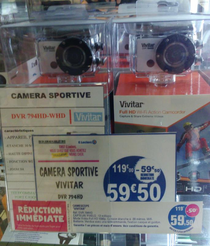 Caméra embarquée Sport Vivitar DVR 794HD Full HD Wifi