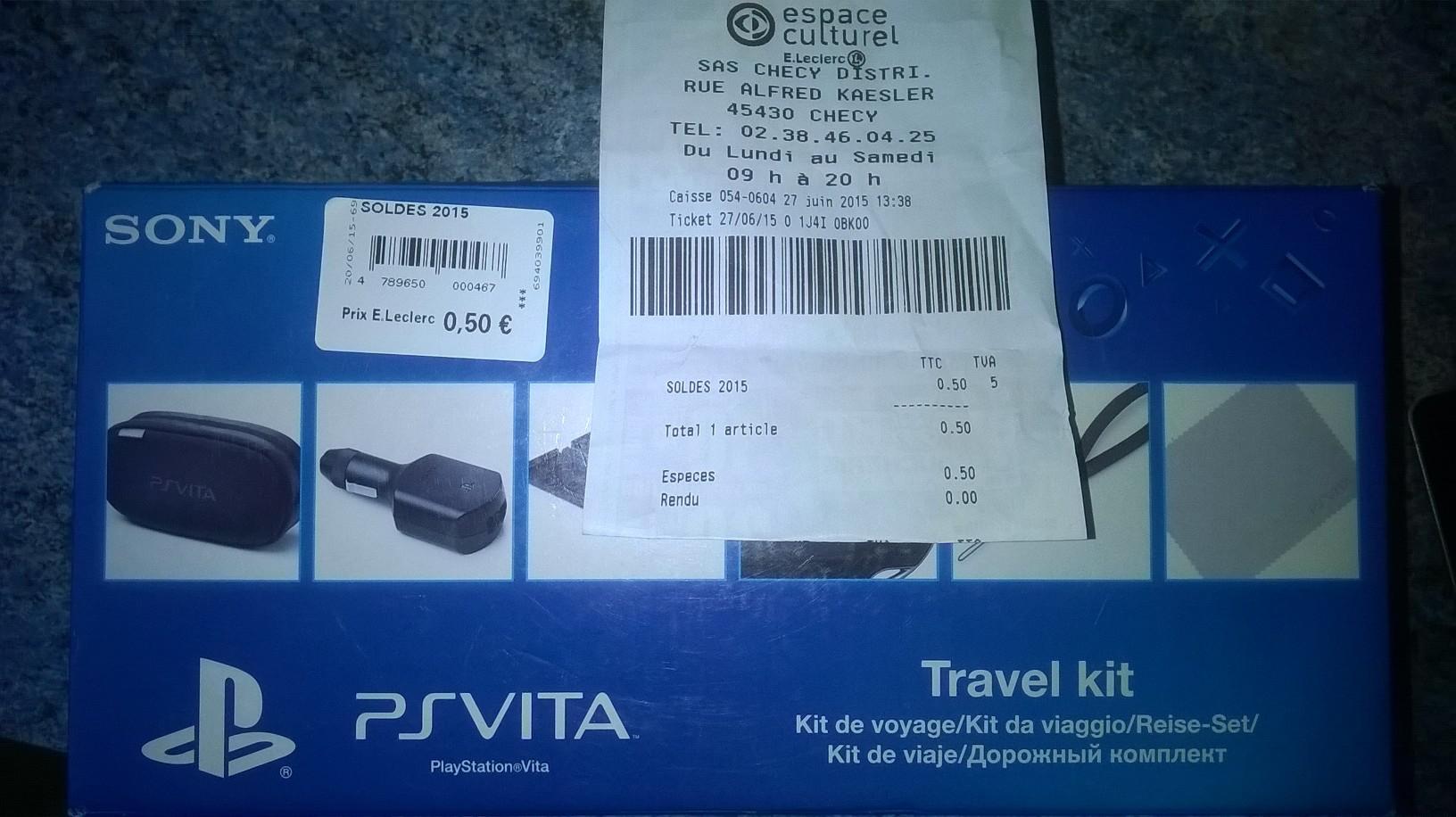 Kit de voyage officiel Sony PS Vita : démarrage et voyage