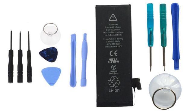 Batterie d'origine de rechange pour smartphones Samsung et iPhone avec/sans kit d'installation