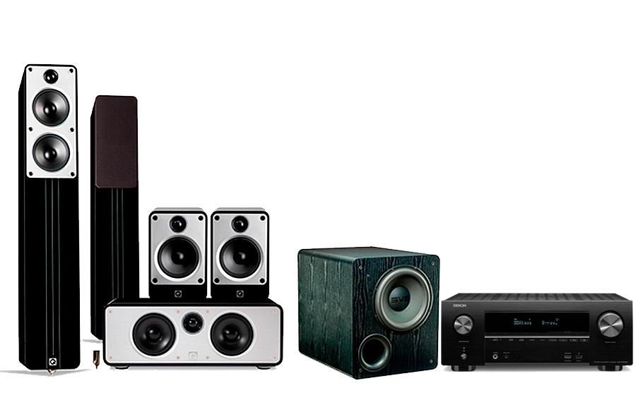 Pack 5.0 Q Acoustics Concept Cinéma  + Caisson SVS PB-2000 + Denon AVR-X2500H