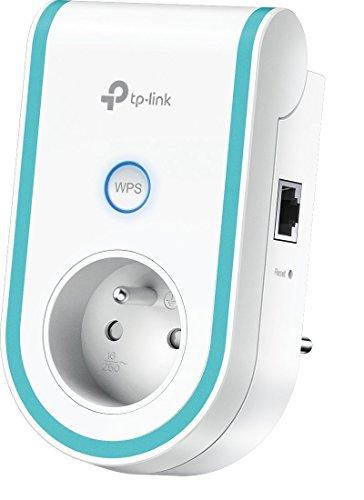 Répéteur TP-Link RE360(FR) - Wi-Fi AC, 1200 Mbps, 1 Port Gigabit + prise gigogne 2P+T FR
