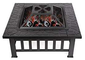 Brasero d'extérieur en acier pour jardin - 81x81 cm (vendeur tiers)