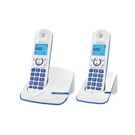 Telephone fixe Alcatel F330 Duo Bleu avec répondeur