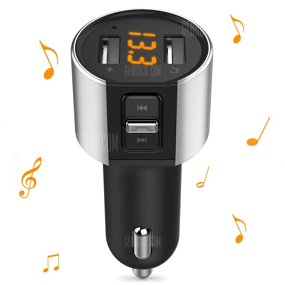 Chargeur de Voiture Alfawise - 2 Ports USB, Transmetteur FM