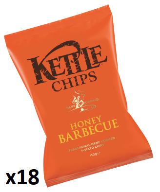 Carton de 18 sachets de chips Kettle Honey Barbecue (18x40 g) - Lons (64)