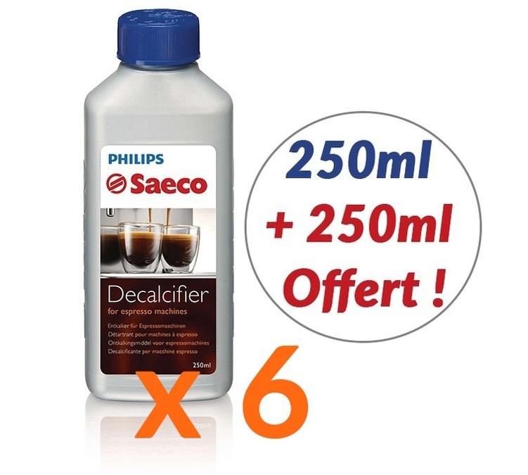 Lot de 6 bouteilles Detartrant Saeco - 6 x 500mL
