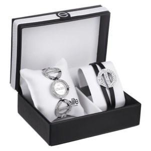 Coffret montre et bracelet Elite pour femme
