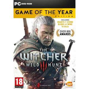 The Witcher 3: Wild Hunt - Game of the Year Edition sur PC (Frais de port inclus)