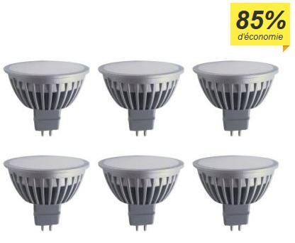 Lot de 6 Ampoules LED Polaroid GU5.3 - 5W