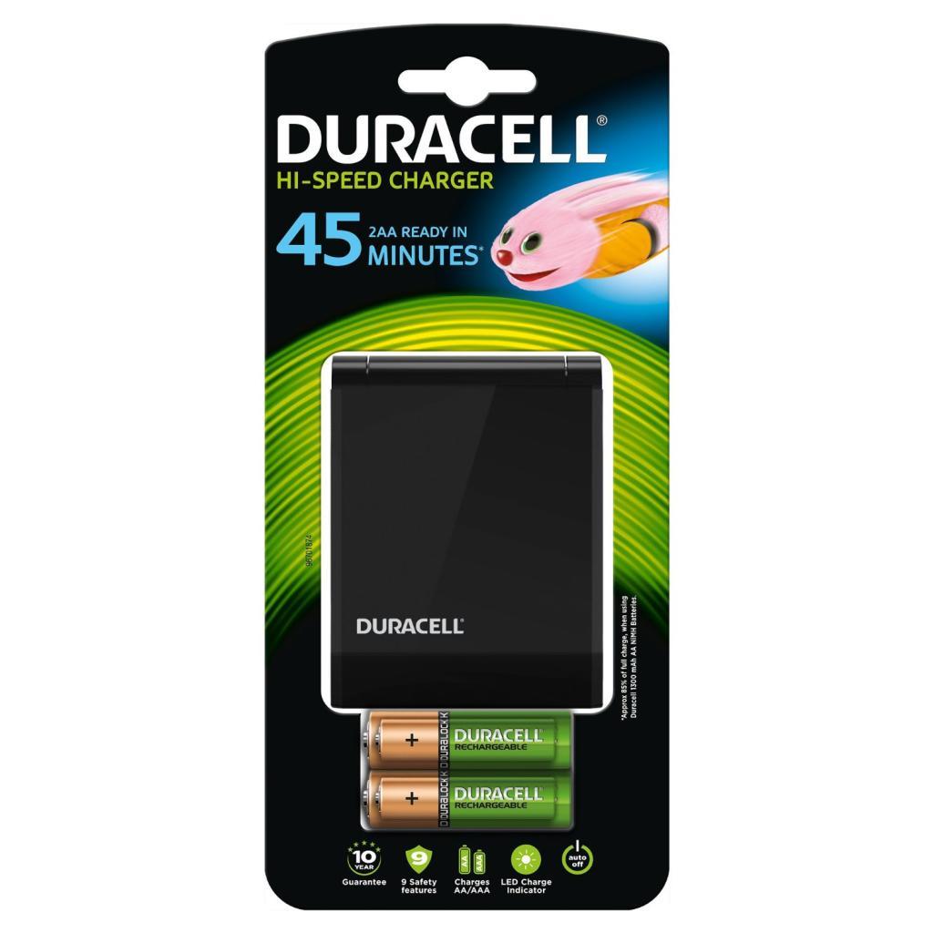 Chargeur  Duracell Rapide 45 Minutes + lot de 2 piles AA et AAA