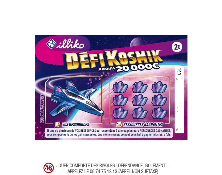 Jeu de grattage FDJ Illiko Defi Kosmik (100% remboursé via Shopmium)
