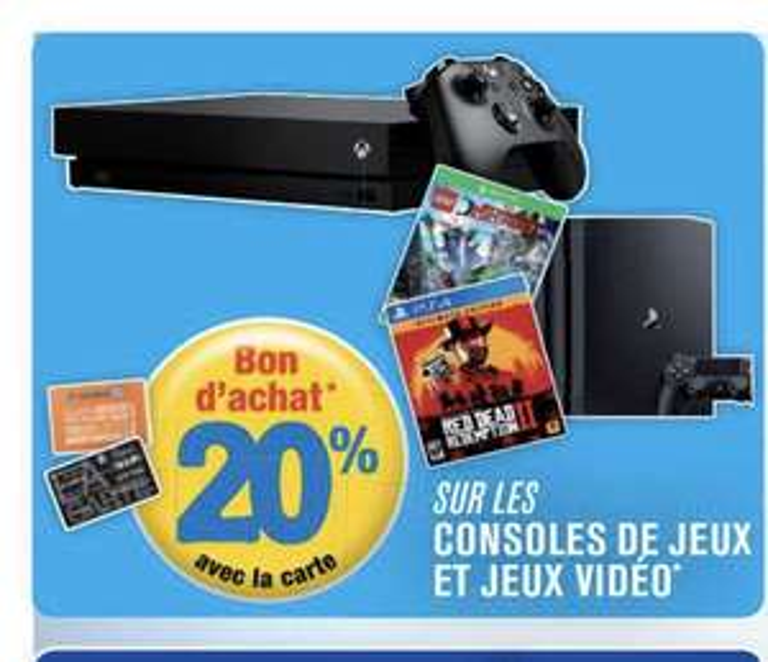 20% de réduction en bon d'achats parmi une sélection de jeux-vidéos et consoles (hors articles du catalogue) - Roques (31)