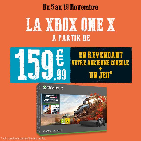 Pack console Xbox One X (1 To) à partir de 159.99€ via la reprise d'une ancienne console et d'un jeu - Ex : reprise d'une PS4 Pro + un jeu