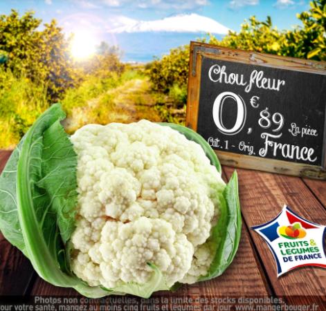 Chou Fleur Catégorie 1 (Origine France) - La Courneuve à Villemomble (93)