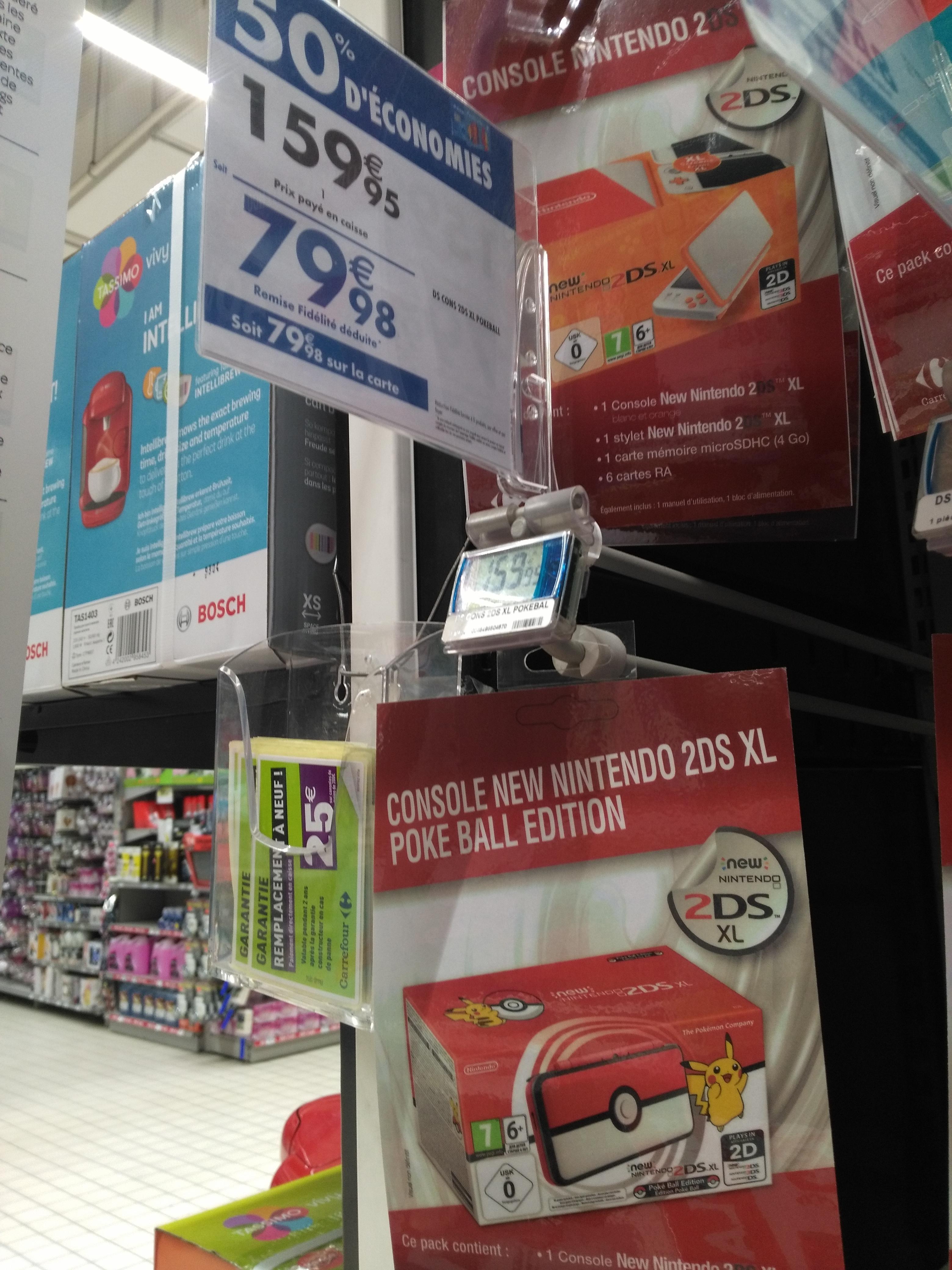 Console Nintendo 2DS XL Poke Ball Edition (via 79,98€ sur la carte fidélité) - Marseille Bonneveine (13)