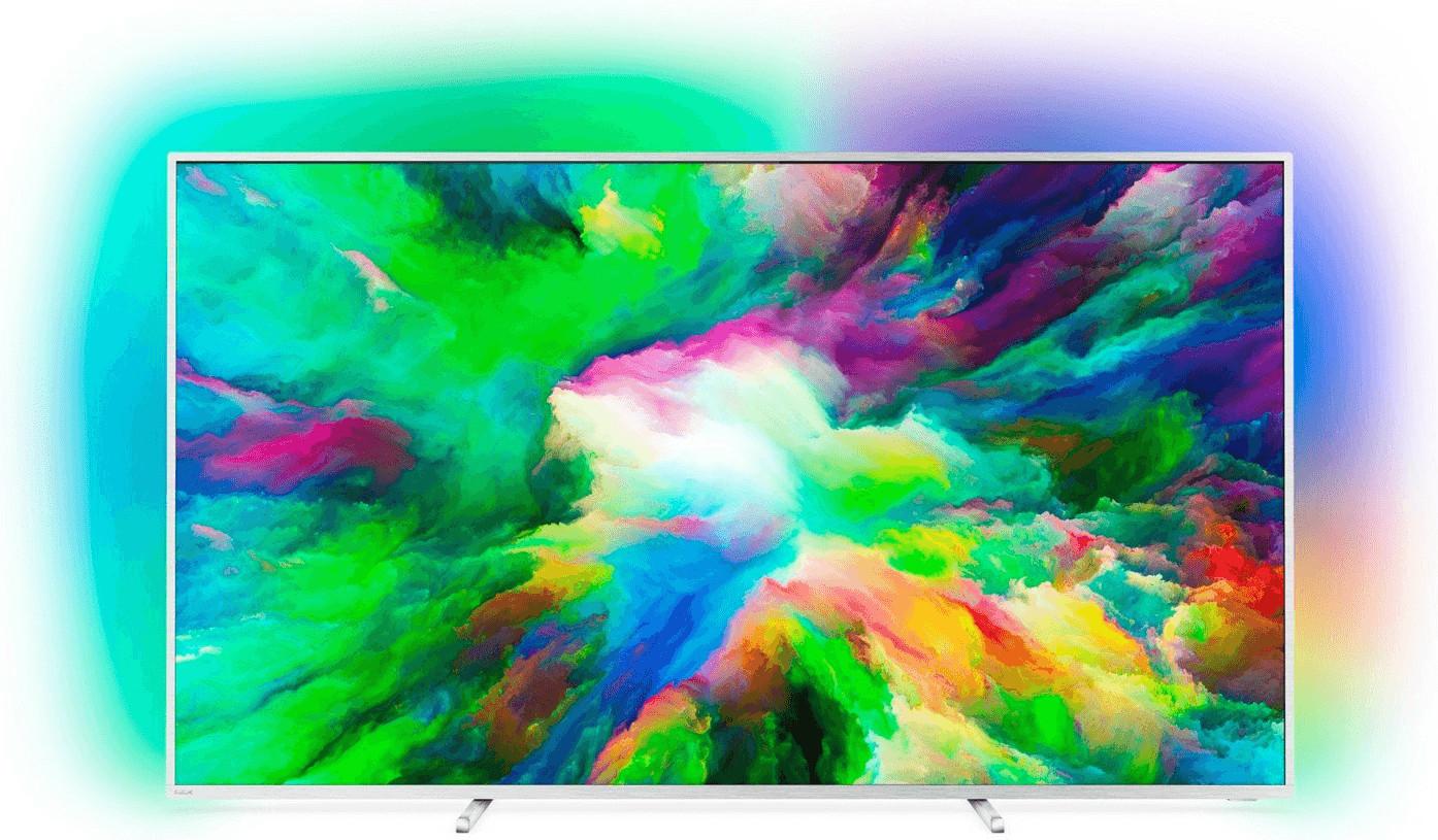 """TV 55"""" Philips 55PUS7803 - 4K UHD, LED, Smart TV, Ambilight 3 côtés (via ODR de 100€)"""