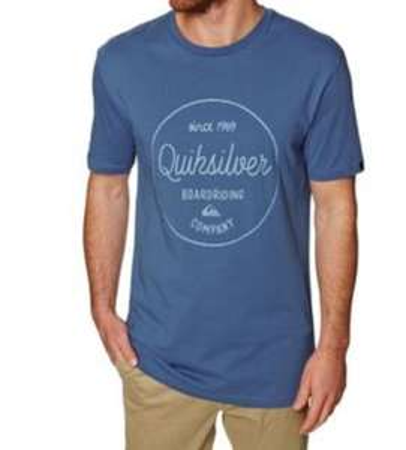 T-Shirt Quicksilver - Bleu (Tailles au choix)
