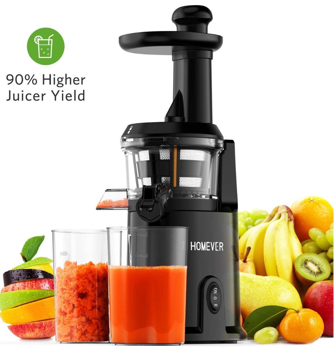 Extracteur de Jus de Fruits et Légumes Homever - Gris (vendeur tiers)