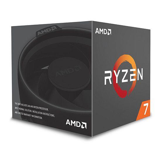 Processeur AMD Ryzen 7 2700 (3,2 GHz) avec ventilateur Wraith Spire LED Edition