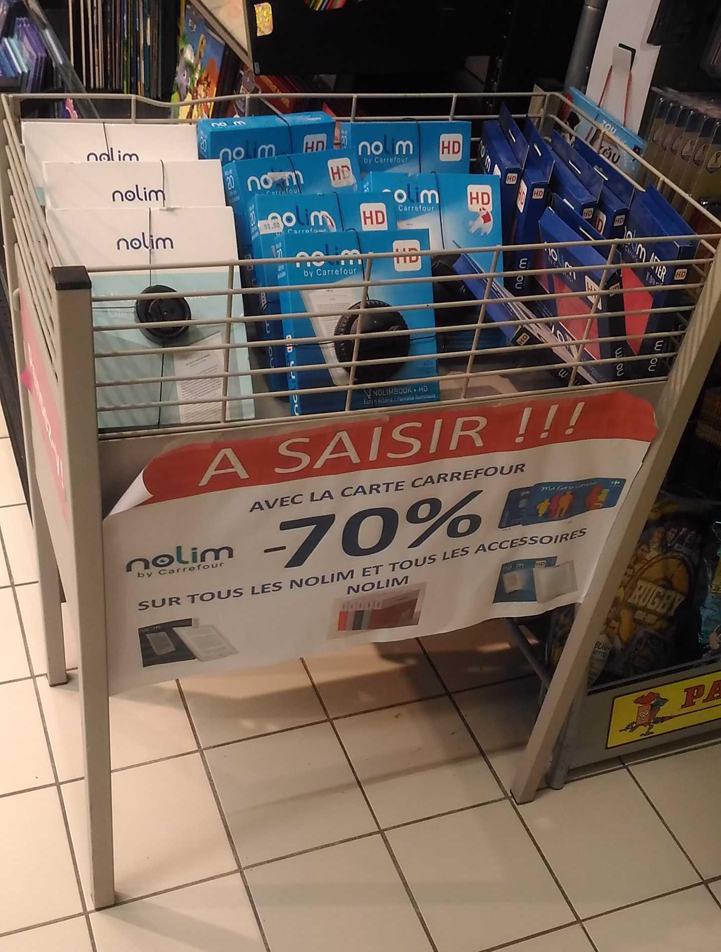 Sélection de Liseuses Nolim en promotion - Ex: Liseuse Nolim (via 49€ sur la carte) - Beauvais (60)
