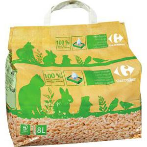 sac de 8 litres de litière végétale carrefour (3€ sur la carte)