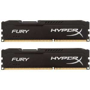 Mémoire RAM Kingston HyperX Fury Black 16 Go (2 x 8 Go) - DDR3 Non-ECC 1866 MHZ  CL10