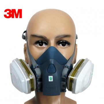 Masque de protection 3M 7502 avec filtres 5N11 et 6001CN