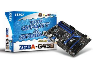 Carte mère MSI Z68A-G43 G3 - Chipset Intel Z68 - Socket LGA1155
