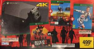 Pack Console Xbox One X 1 To + Red Dead Redemption 2 + Fifa 19 + Player Unknown's Battle Grounds (Frontaliers Belgique)