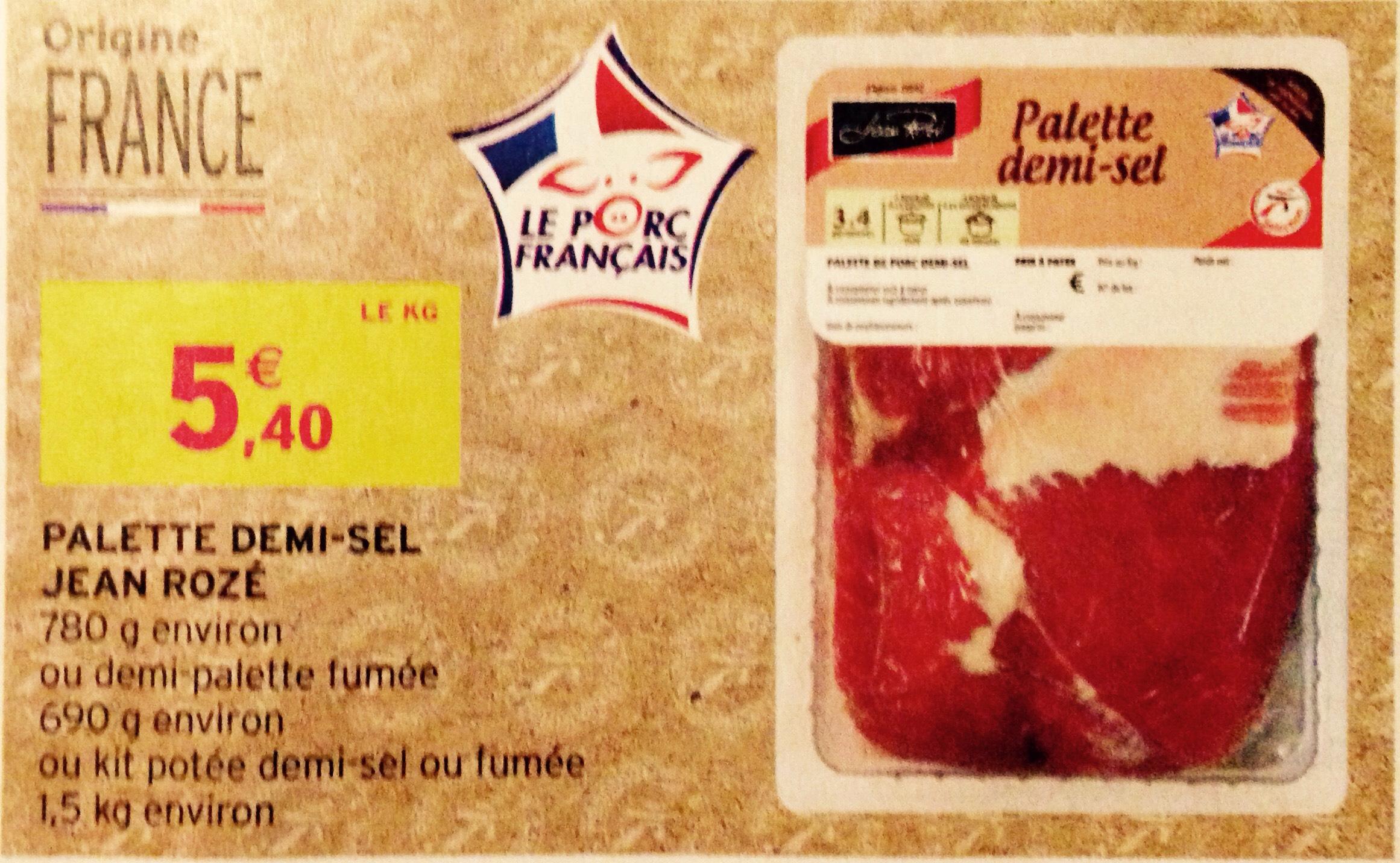 Palette demi sel Jean Rozé (ou kit potée) - 1kg