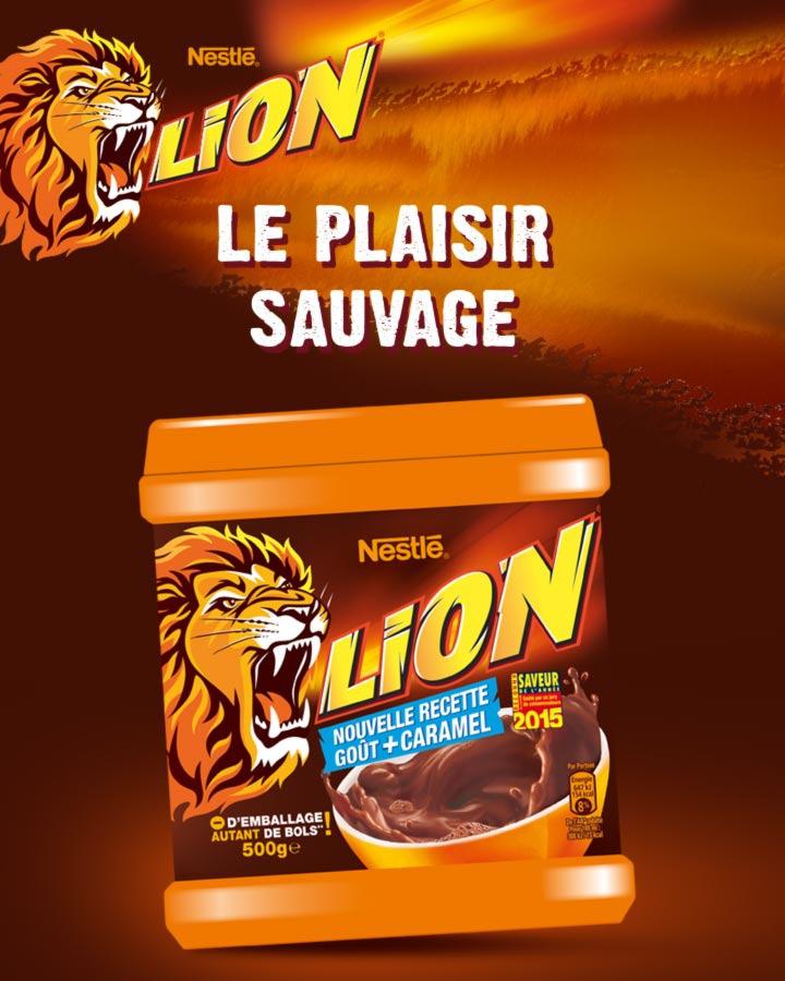 Poudre cacaotée Lion de  500g  (via shopmium)