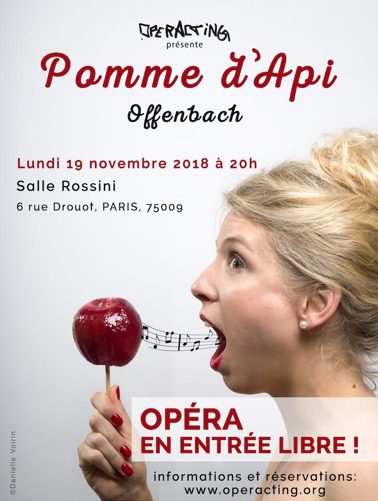 """Représentation gratuite de l'Opérette """"Pomme d'Api"""" d'Offenbach (Paris 75009)"""