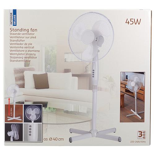 Ventilateur d'intérieur sur pieds 40 cm - 45W, 3 fonctions