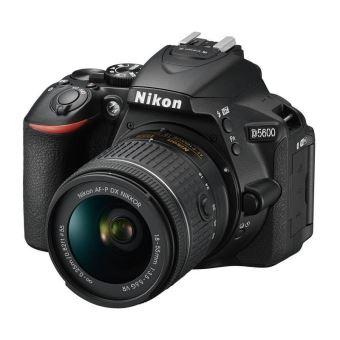 Appareil Photo Reflex Nikon D5600 Noir + Objectif AF-P 18-55 mm VR (via ODR de 100€)