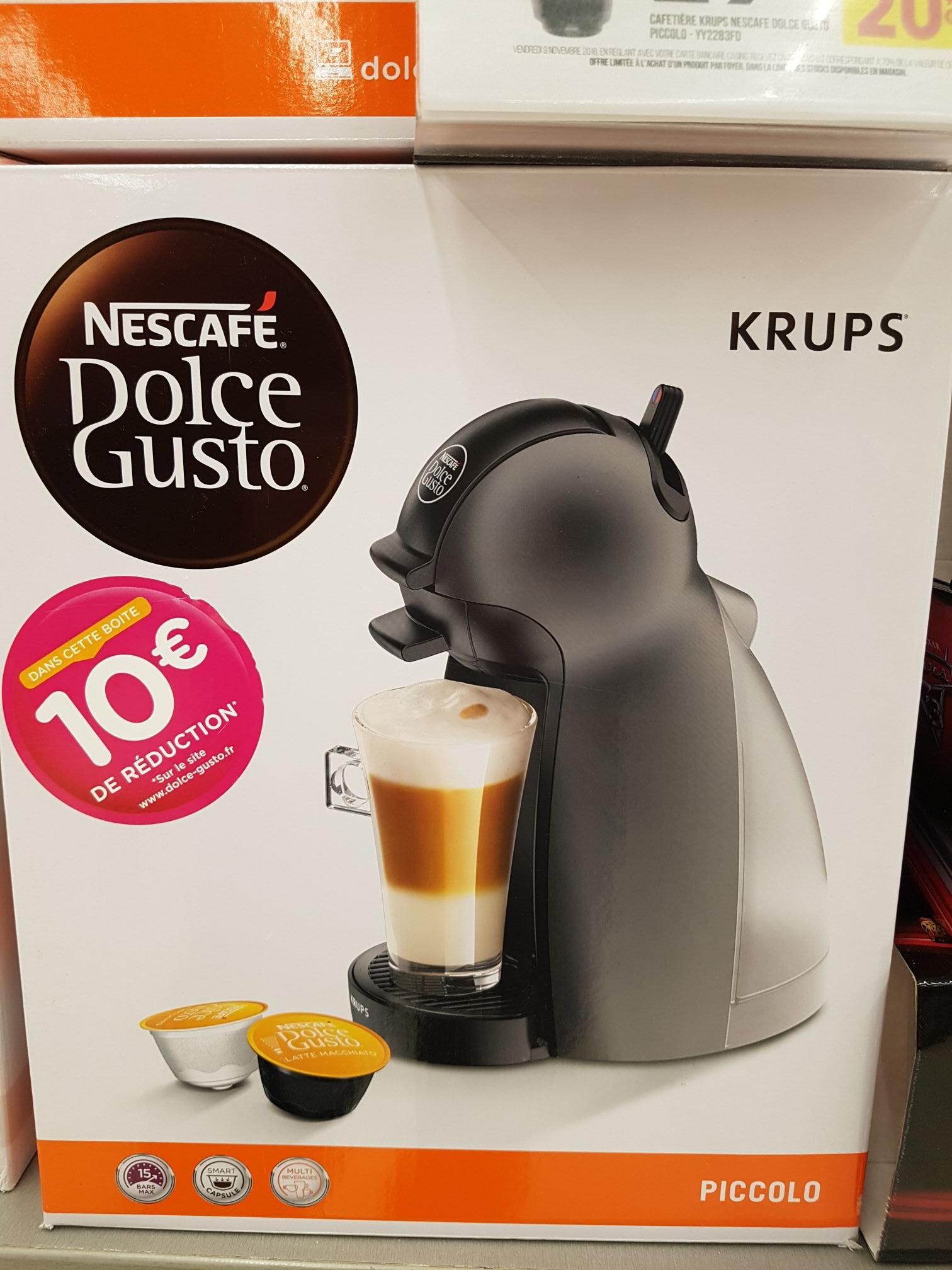 Machine à café Nescafé Dolce Gusto (via Bon d'Achat de 20€) + 10€ offerts sur le site Dolce-Gusto + 15€ bon dachat - Brest (29)