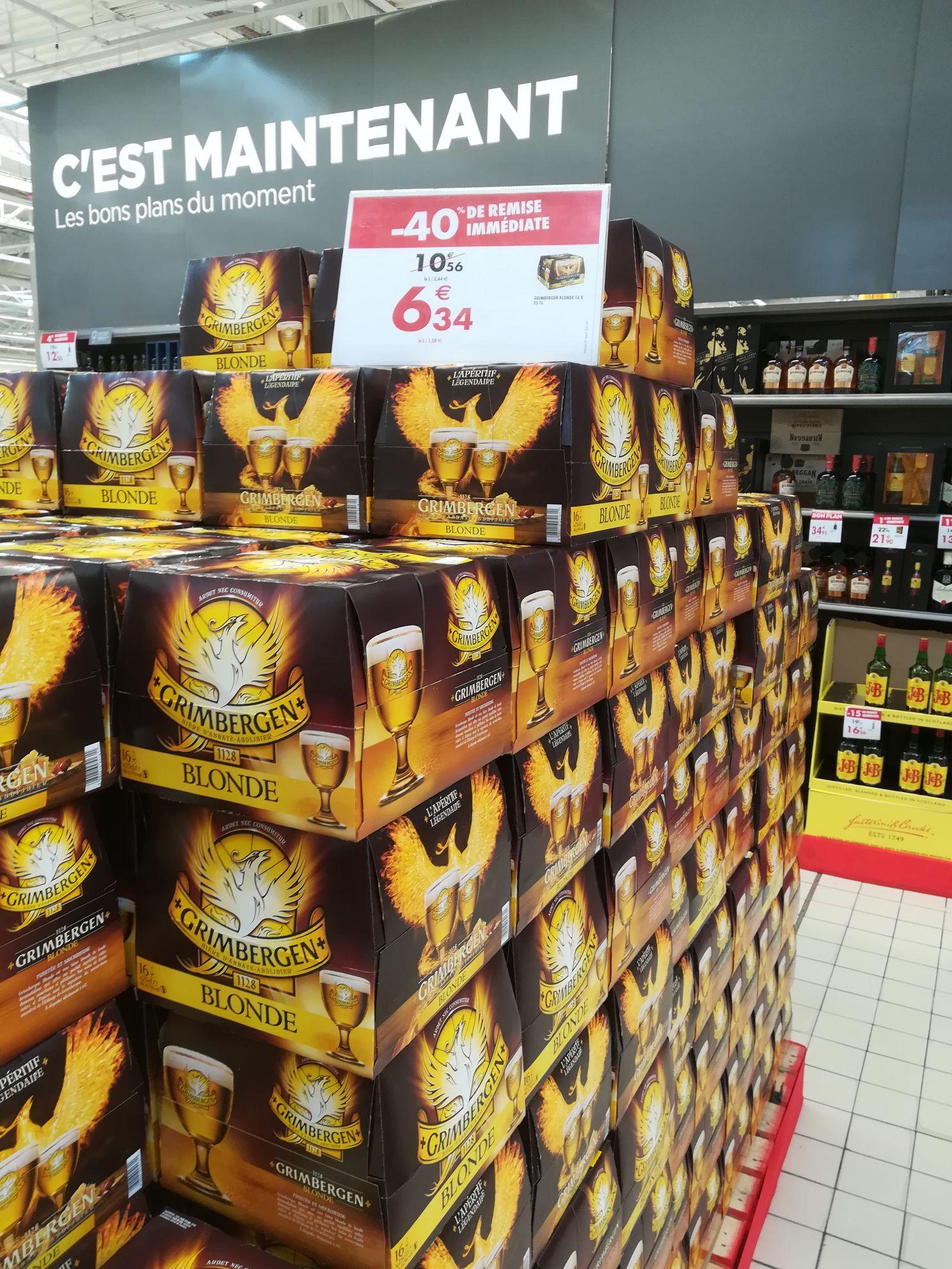 Pack de 16 bières blondes Grimbergen - Marzy (58)