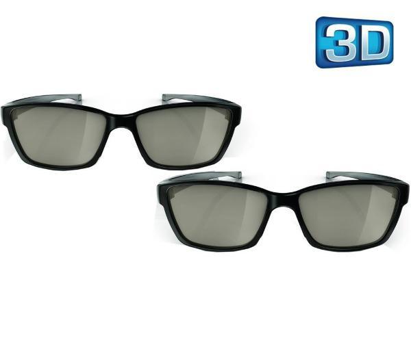 Lot de 2 paires de lunettes 3D passive Philips PTA417/00