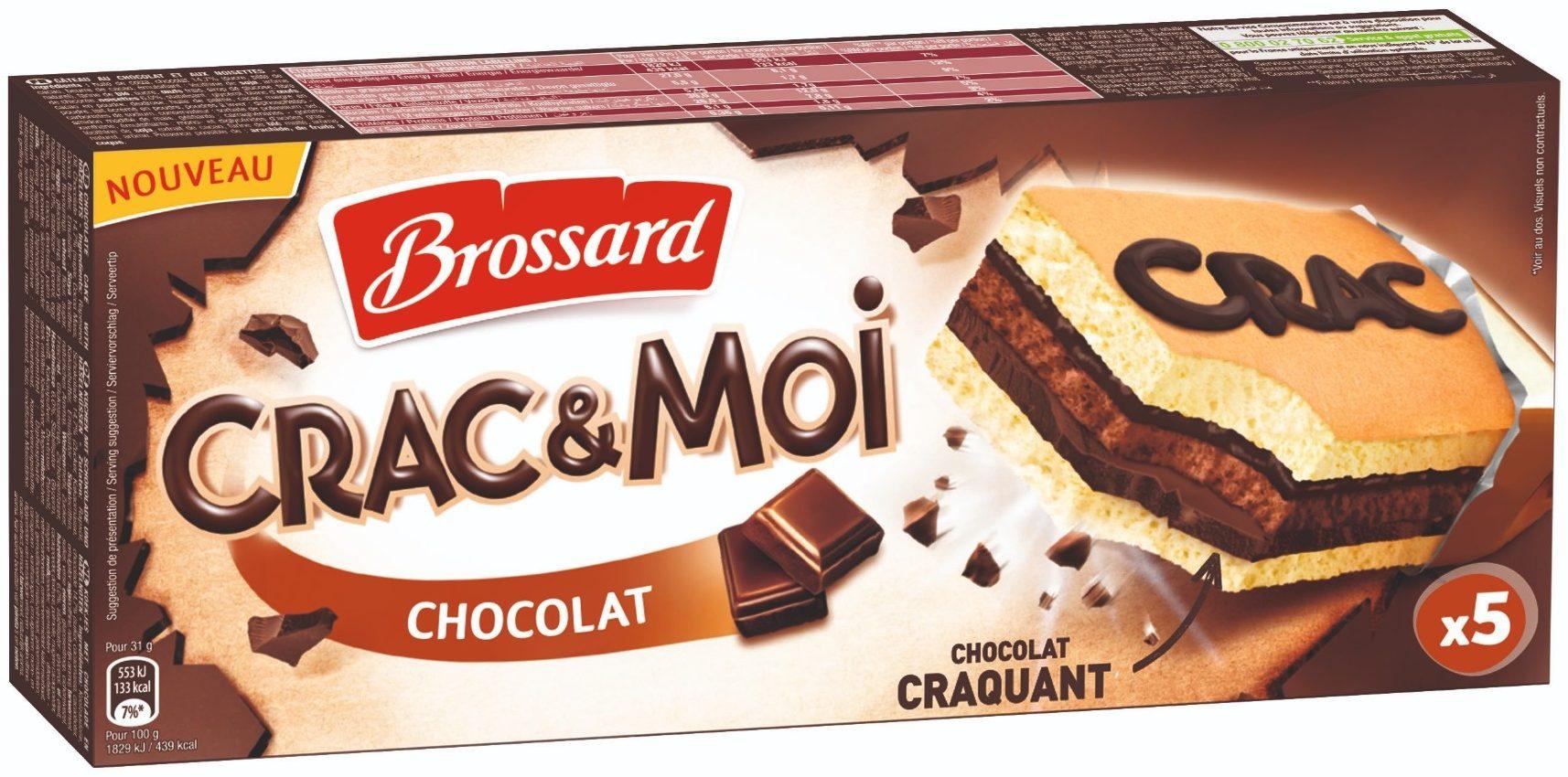 1 paquet de gâteaux Brossard Crac & Moi - Chocolat ou Framboise, 155g (via 1.37€ sur la carte de fidélité)