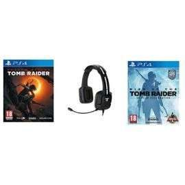 Pack casque audio sans fil Tritton Kunai + Rise of the Tomb Raider sur PS4 + Shadow of the Tomb Raider sur PS4 (+ 2.7€ en SuerPoints)